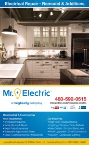 Ad designed for Mr Electric of Phoenix by Desertmoon Graphics